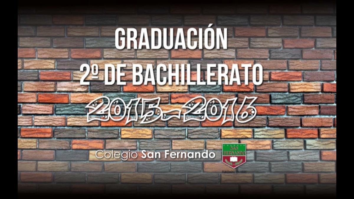 Graduación de Bachillerato 2016